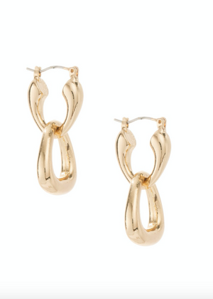 ETTIKA Baby Double Dangle Hoop Earrings in Gold
