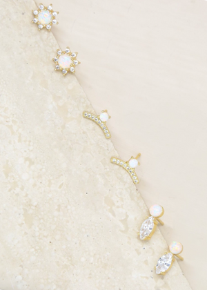 ETTIKA Opal and Crystal Babies Earring Set