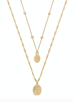 ETTIKA Simple Statement Coin Layered Necklace