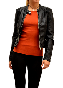 ROXY VEGAN LEATHER JACKET