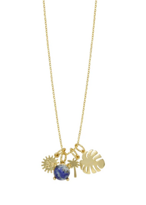 ETTIKA TROPICAL GETAWAY 18KT GOLD PLATED NECKLACE