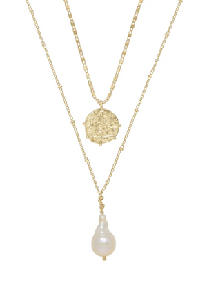 ETTIKA DEEP CONNECTIONS 18KT GOLD PLATED NECKLACE