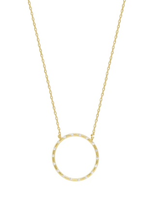 ETTIKA CIRCLE OF LOVE 18KT GOLD PLATED NECKLACE