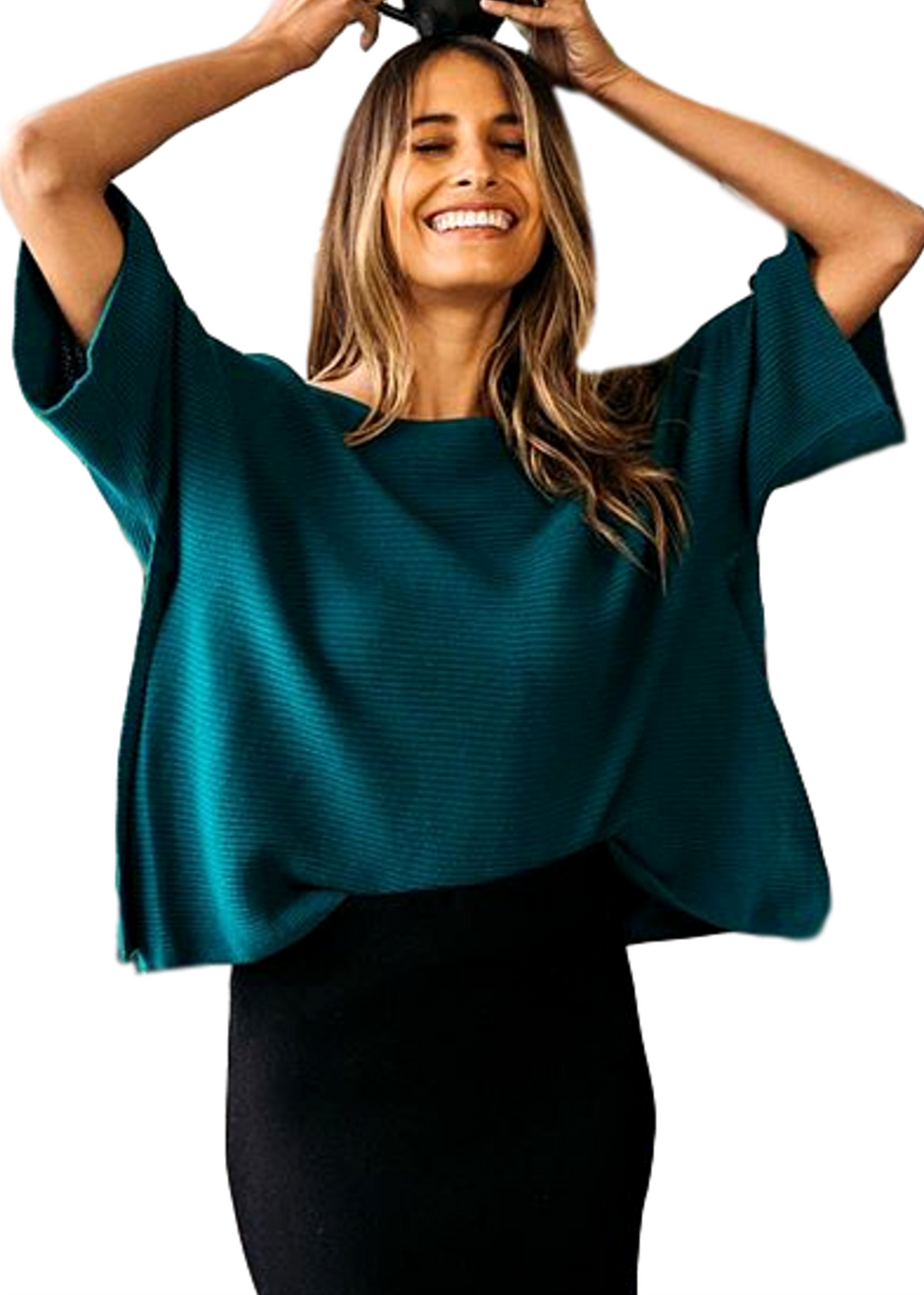 CARYS KNIT TOP - EMERALD