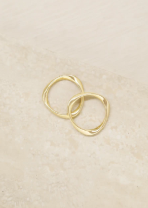 ETTIKA MAKE IT A DOUBLE 18KT GOLD PLATED RING
