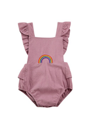 BOW ONESIE-LILAC