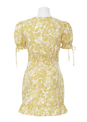 BINITA MINI DRESS- YELLOW