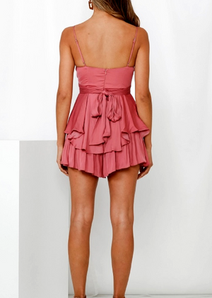 ISHA PLAYSUIT- ROSE