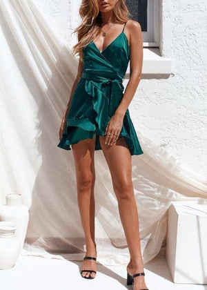 EAVES DRESS - EMERALD