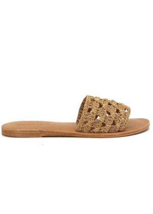 ATOLLS LEATHER SLIDES - NATURAL