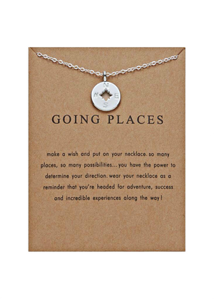 GOING PLACES NECKLACE SILVER