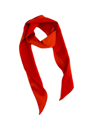 DEE SELF TIE HAIR SCARF RUST