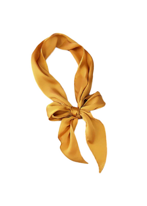 DEE SELF TIE HAIR SCARF MUSTARD