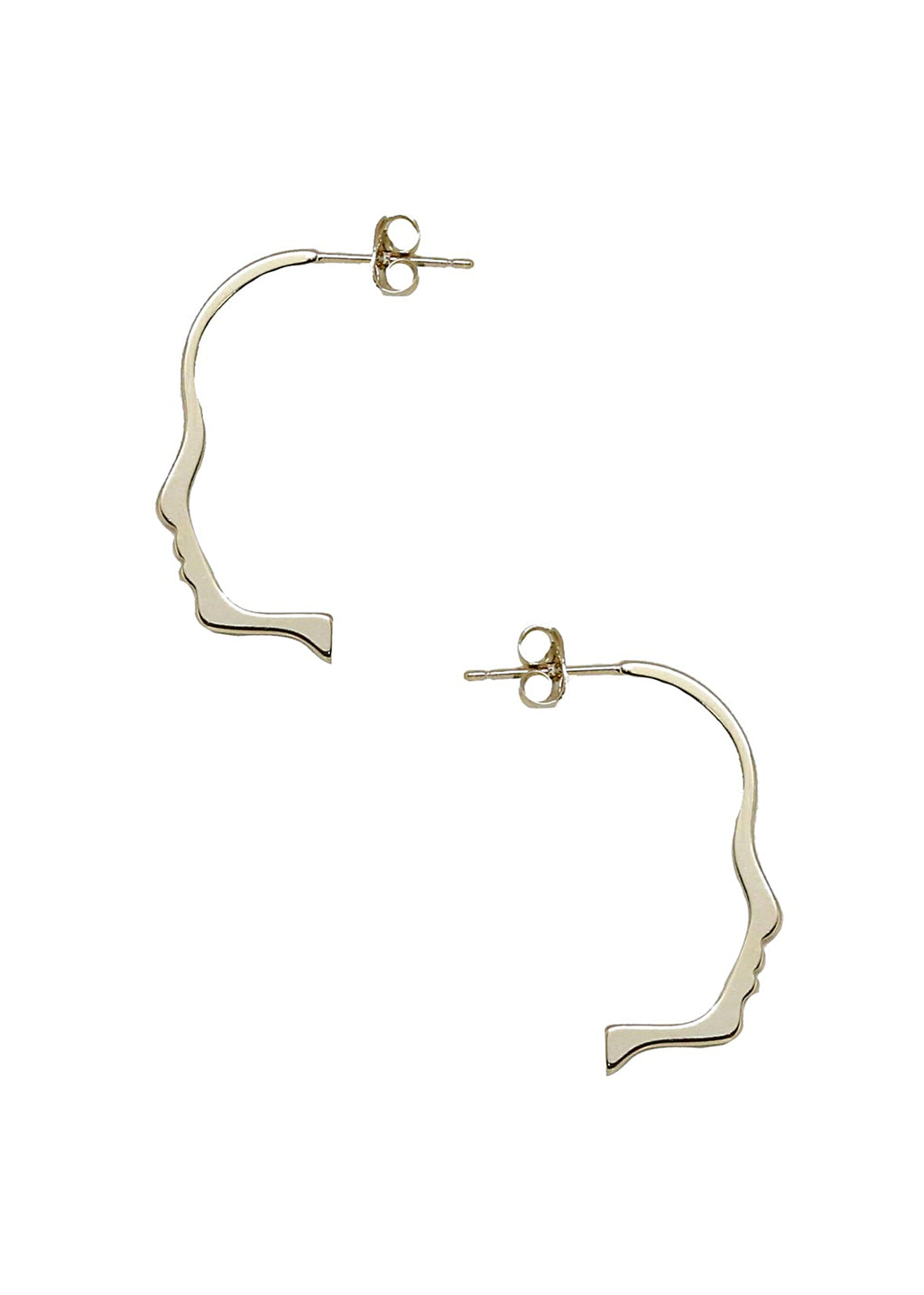 ETTIKA FACE SILHOUETTE EARRINGS