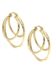 ETTIKA CAGE HOOP EARRINGS IN GOLD
