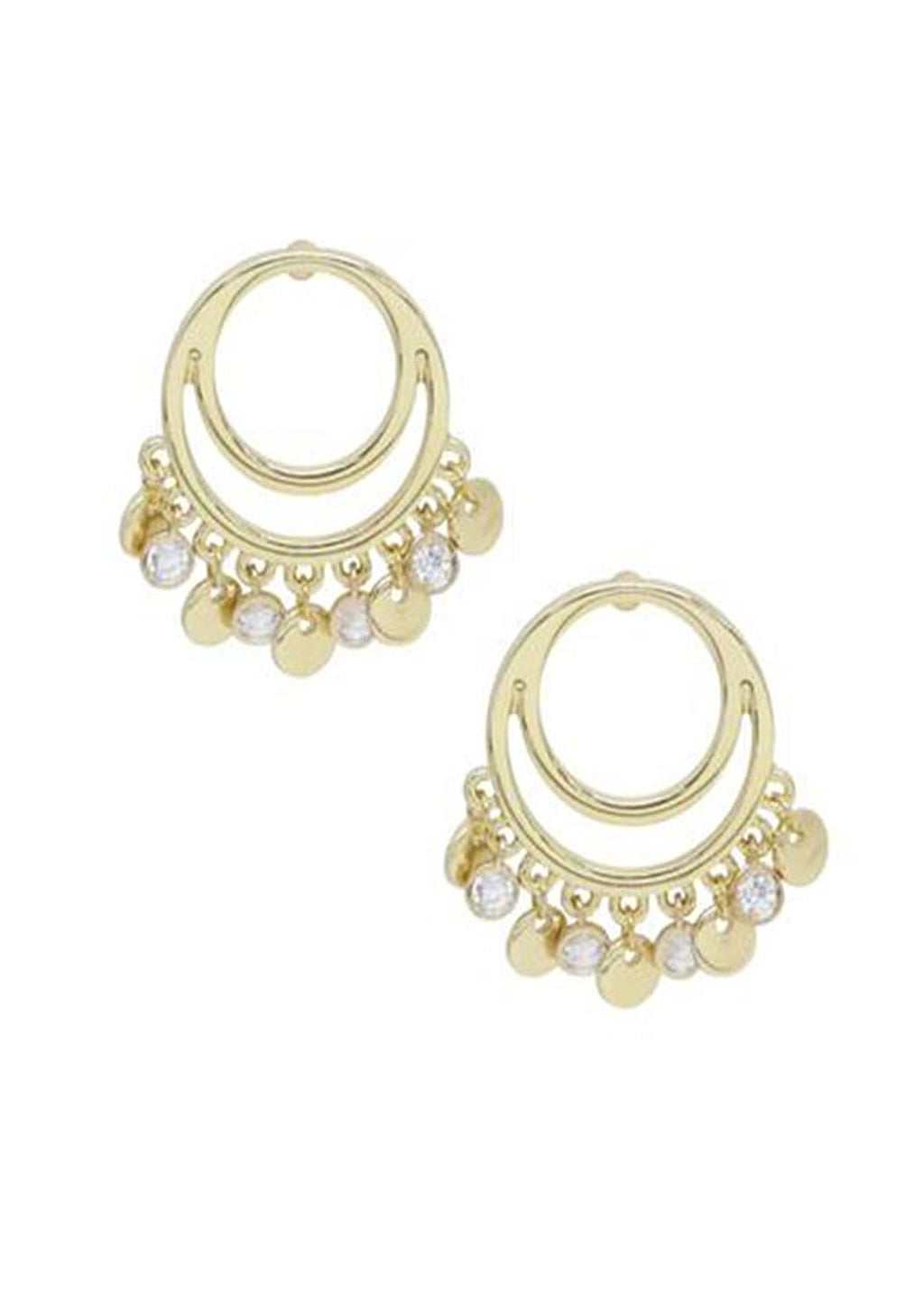 ETTIKA CUT OUT DANGLE CHARM EARRINGS