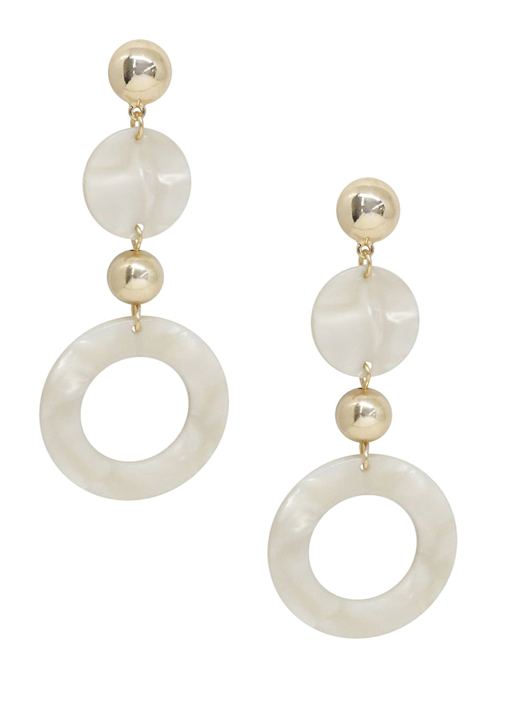 ETTIKA SOFT FOCUS RESIN CIRCLE DROP EARRINGS