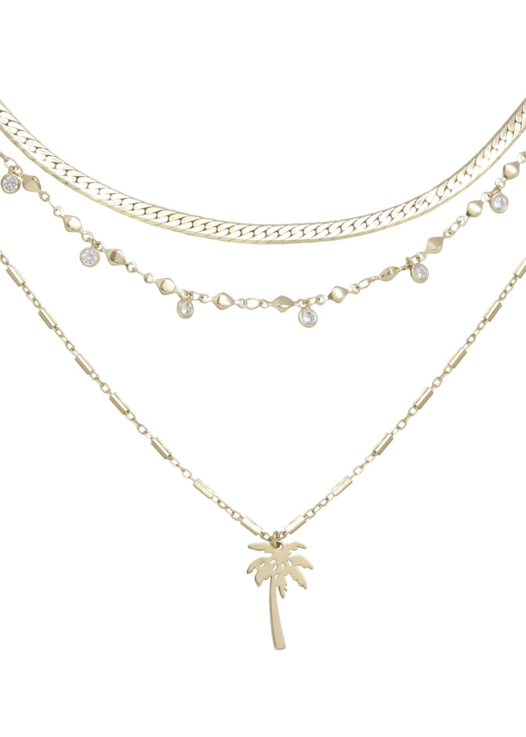 ETTIKA WEST PALM LAYERED NECKLACE IN GOLD