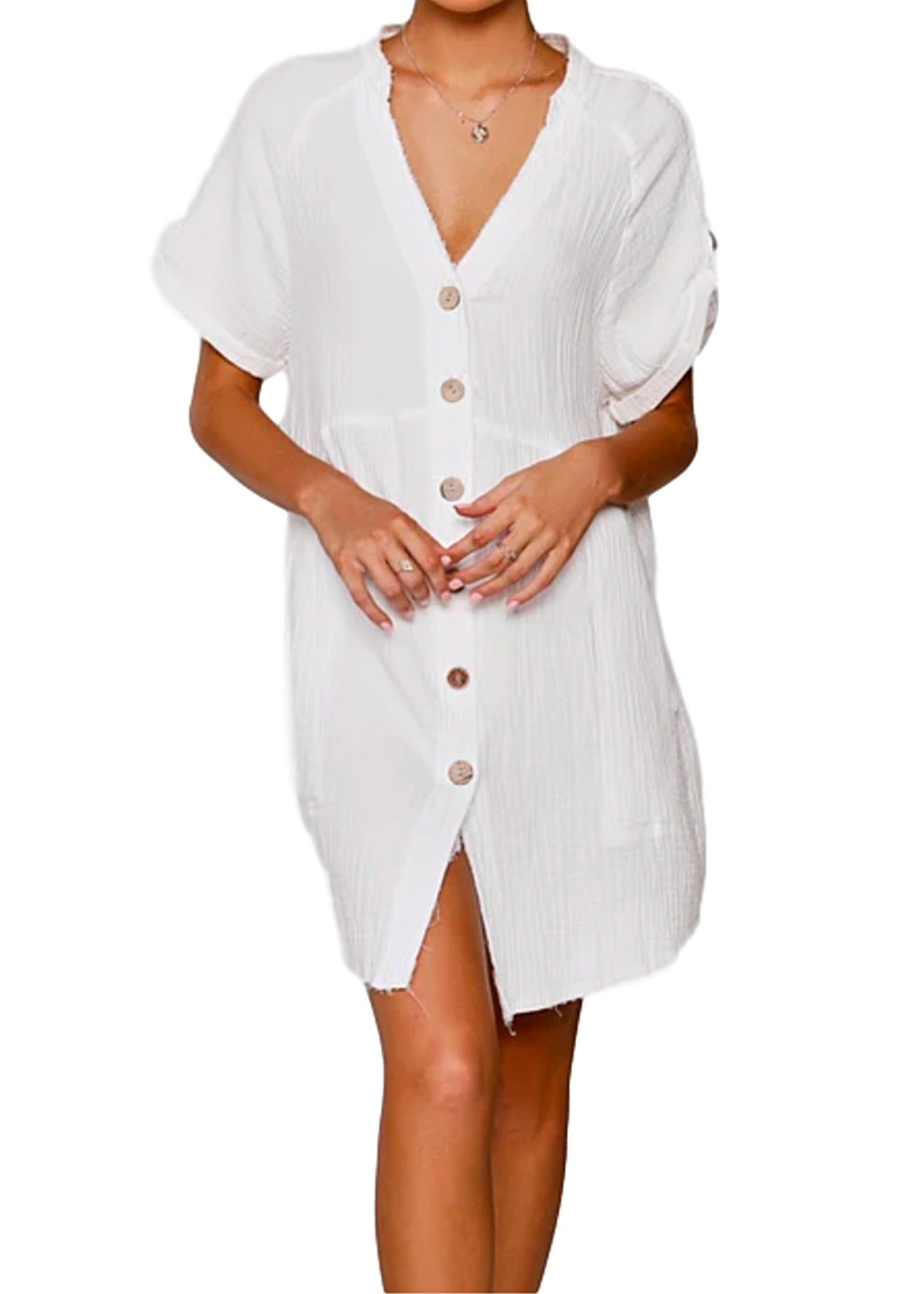 TARNIA  DRESS - WHITE