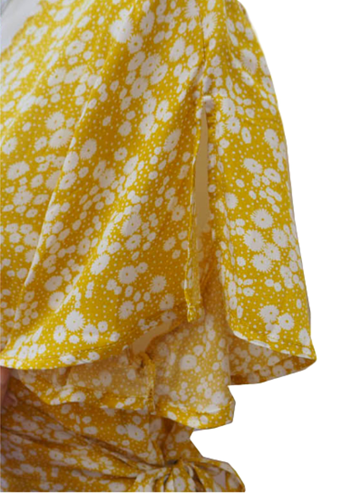 CARRIE WRAP MAXI DRESS YELLOW