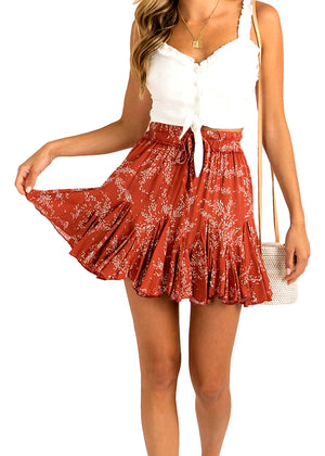 TEA PARTY SKIRT- RED