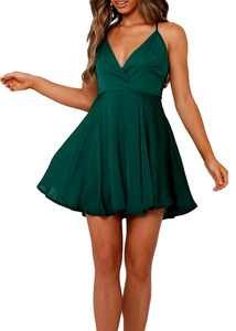 ROSABEL DRESS - GREEN
