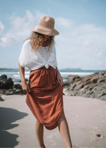AMBERLEE SKIRT - RUST