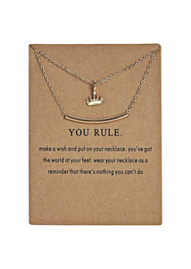 YOU RULE NECKLACE