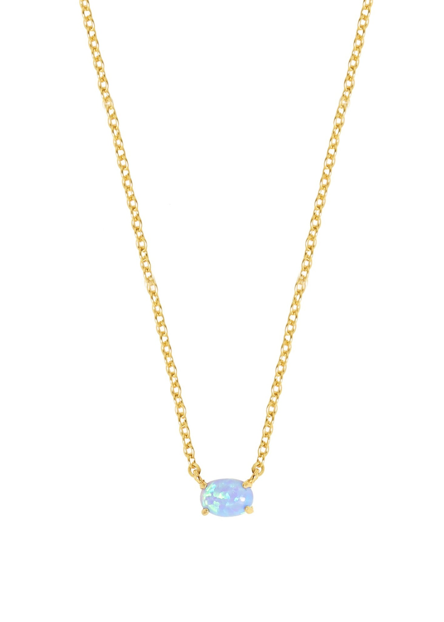 ETTIKA KEEPSAKE KYOCERA BLUE OPAL NECKLACE