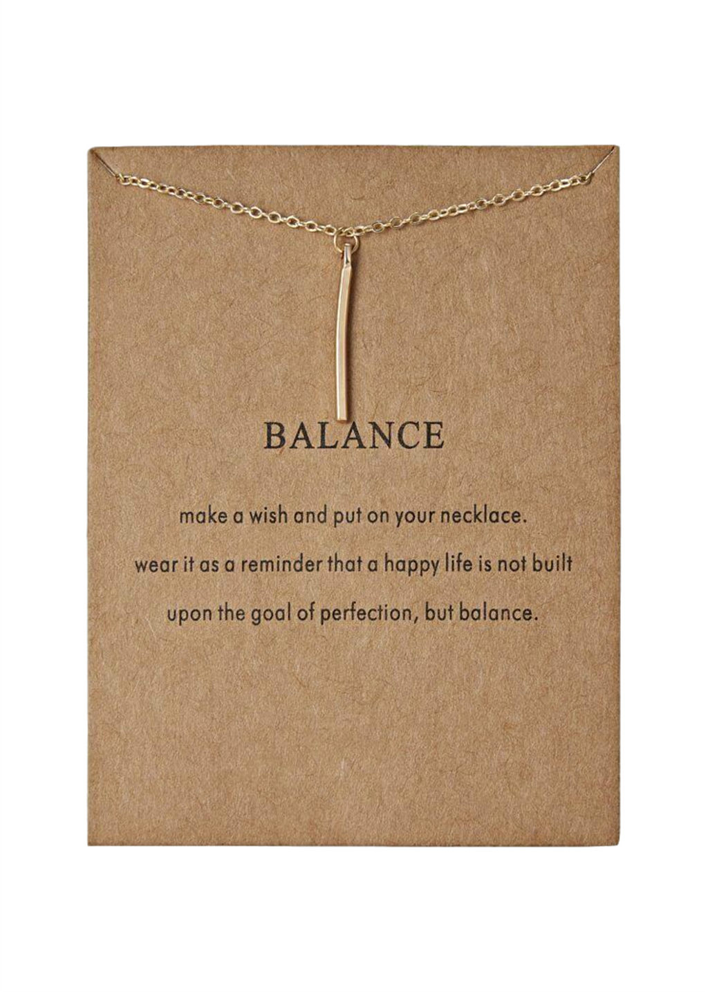 BALANCE LONG BAR NECKLACE