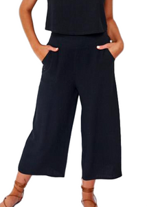 ASHER CROPPED PANTS- BLACK