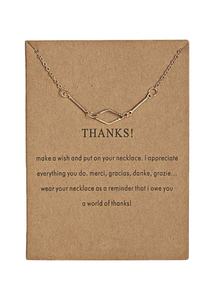 THANKS NECKLACE