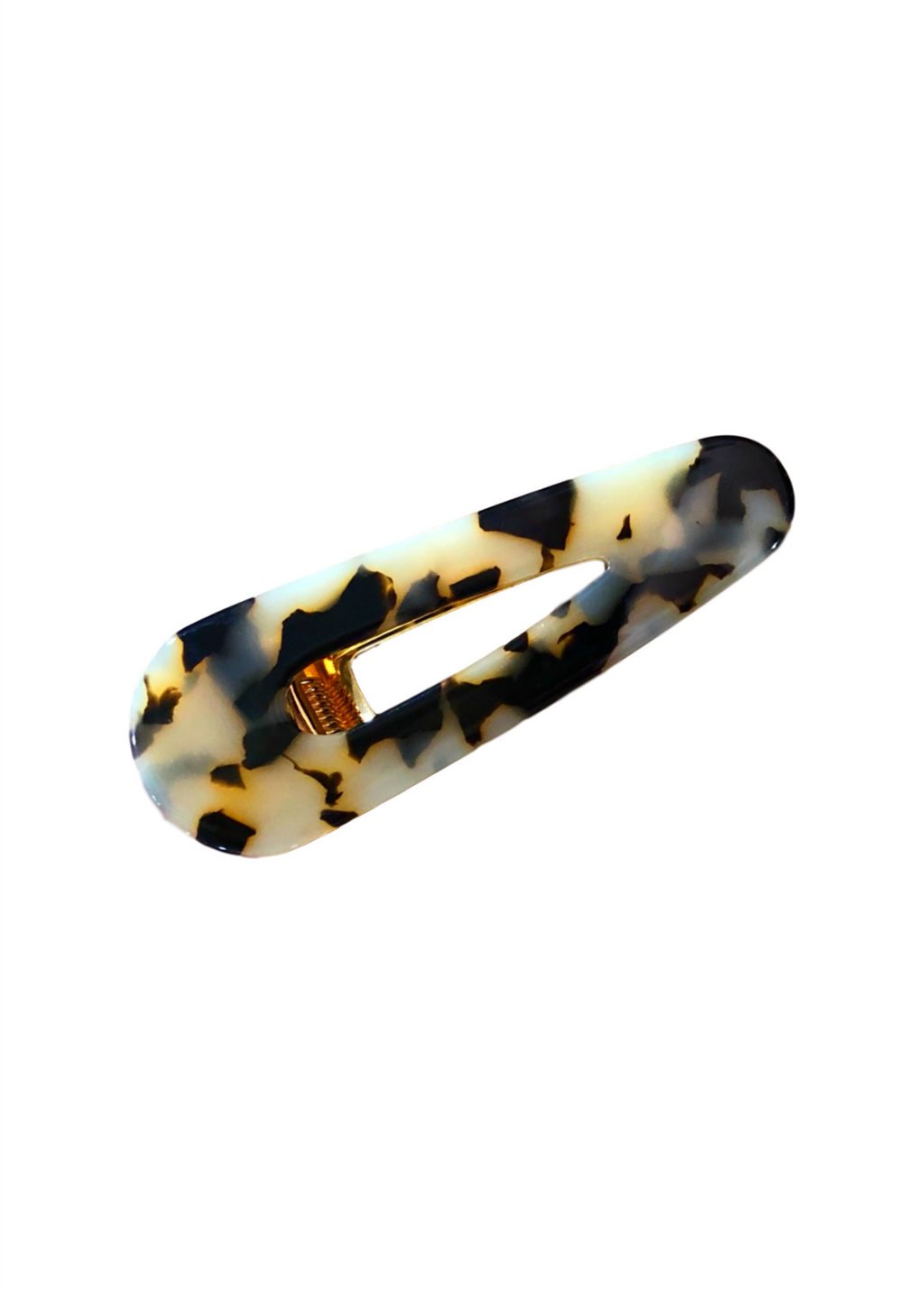 ACRYLIC HAIR CLIP TRIANGLE LEOPARD