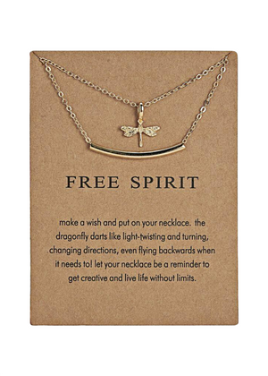 FREE SPIRIT DOUBLE NECKLACE