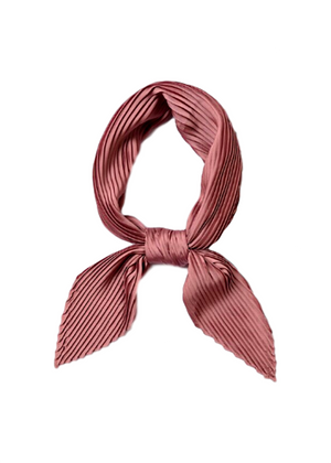 ANJI PLEATED SELF TIE SCARF
