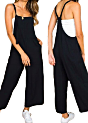 JOAN OVERALLS JUMPSUIT BLACK