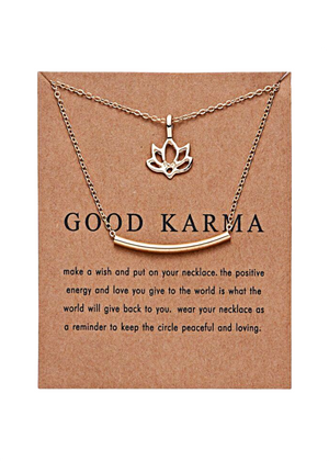 GOOD KARMA DOUBLE CHAIN NECKLACE