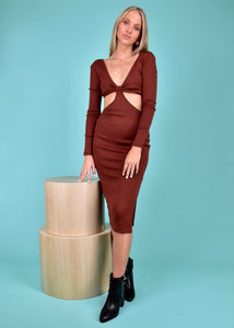 ALZIRA DRESS - CHOCOLATE