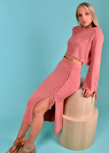 ISA KNIT SET - ROSE