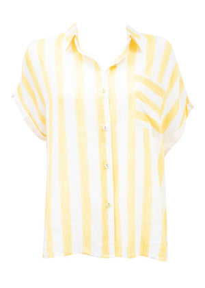 JETTA SHORT SLEEVE SHIRT - BUTTER YELLOW