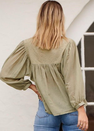JAASE India Khaki Blouse