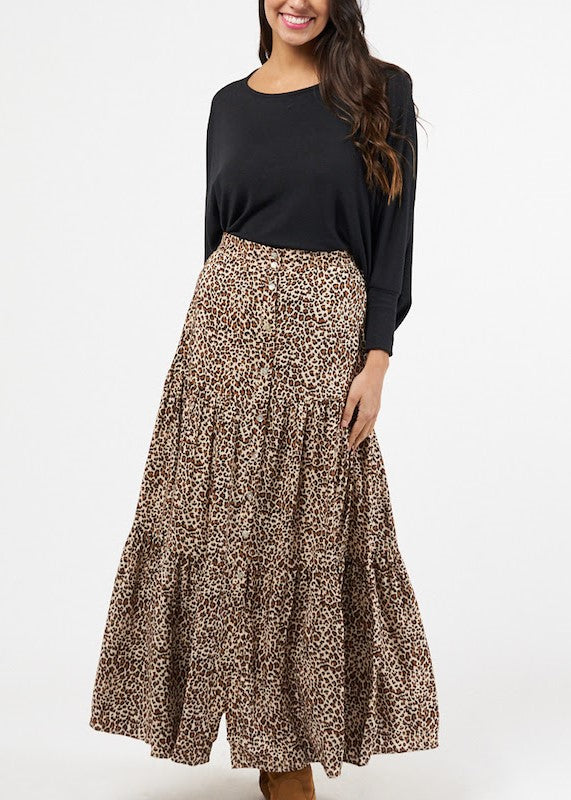 SHEEVA LEOPARD SKIRT
