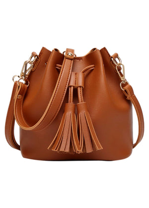 VEGAN LEATHER BUCKET BAG