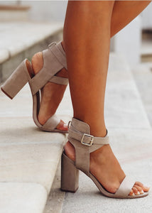 COLLINS HEEL Concrete Suede - By Therapy Shoes