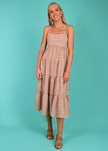 AUBREY MIDI DRESS - GINGHAM