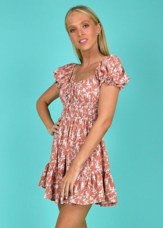 SHILOH DRESS - RUST