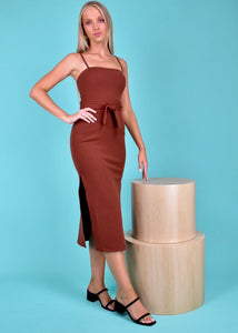 LOREN DRESS - CHOCOLATE