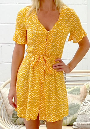KIKI MINI DRESS - YELLOW