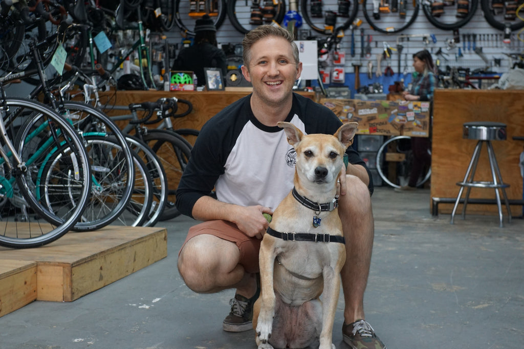 City Bike Tampa's Kevin Craft & Macey the Guard Dog