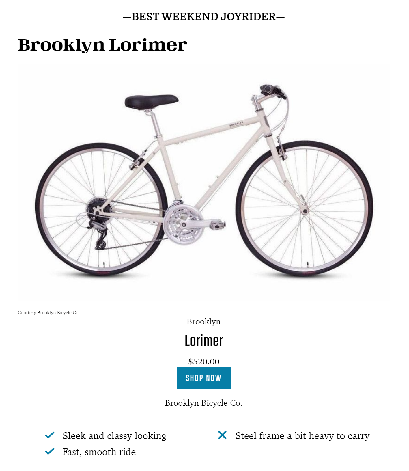 Lorimer Bicycling